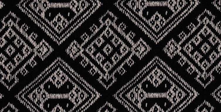 Takumi Kogin Patterns - Black (5 metres)