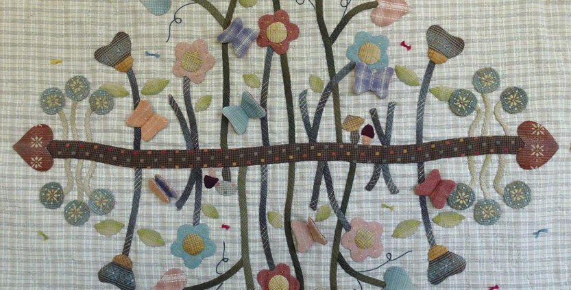 Secret Garden Appliqué Quilt Pattern (PASG-2013)