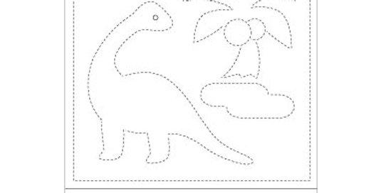 H-1004/H-6004 - Sashiko Sampler - Dinosaur