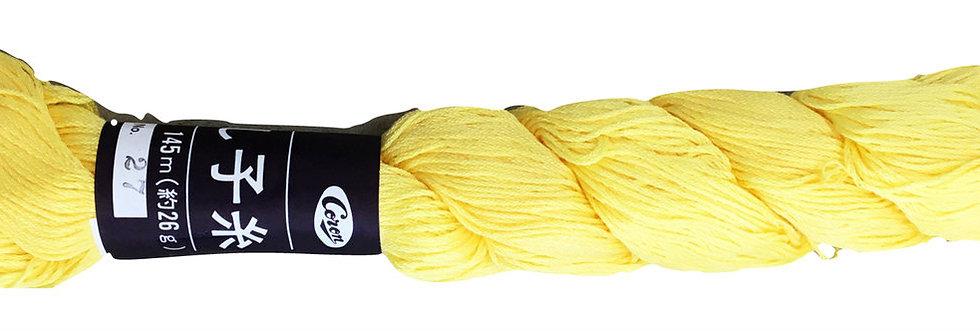 Coron Sashiko Thread - Cornflower Yellow (per skein)
