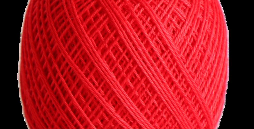 Sashiko Thread Fine Bright Red 80m STF-215 (3 balls)