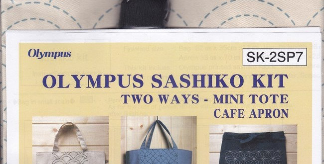 Olympus Sashiko 2-way Kit ~ Seikaiha Off White (SK-2SP7) x3