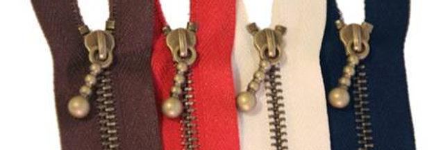 Metal Zippers 17cm (pack of 5)
