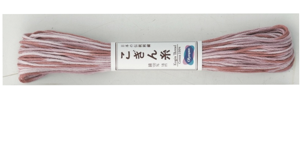 Variegated Kogin Thread 18mt Pink (pack of 3) KT-12