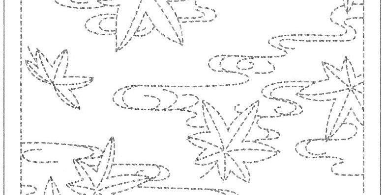 SS14/H-214 - Sashiko Sampler - Maple Leaves on Water