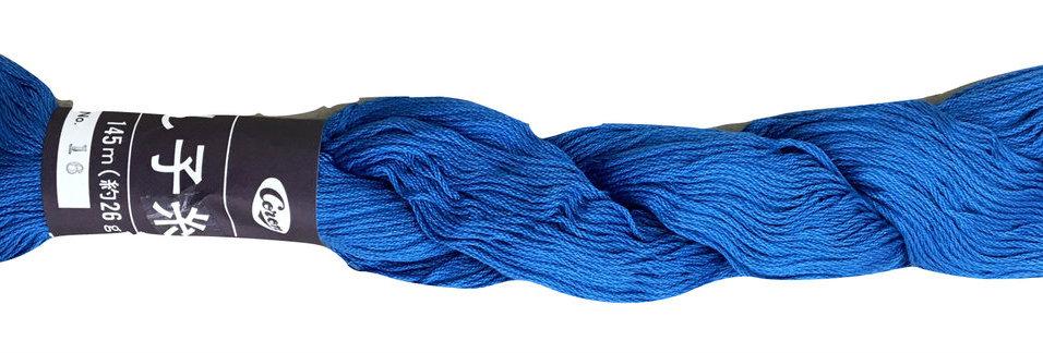 Coron Sashiko Thread - Bright Blue (per skein)