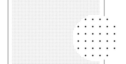H-1021/H-2021/H-4021/H-4521/H-7021 - Sashiko Sampler - Dot Grid Right Angles