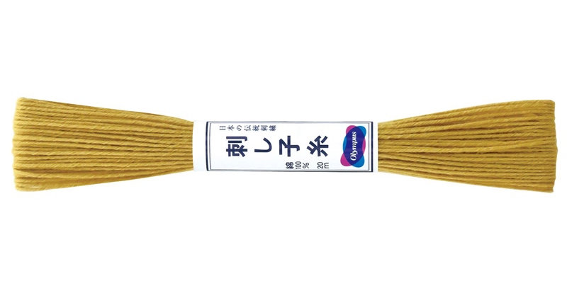 Olympus Sashiko Thread 20m ST-5 Mustard (6 skeins)