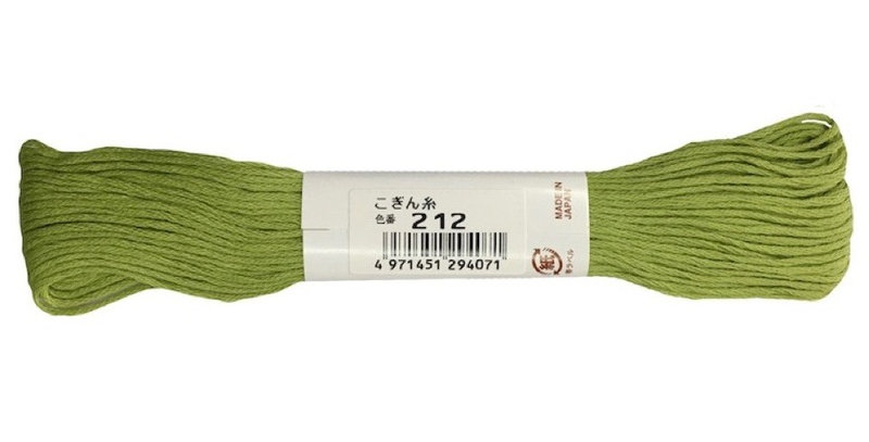 Kogin Thread 18mt - Lime Green (pack of 3)