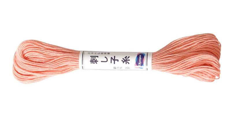Olympus Sashiko Thread 20m ST-25 Apricot (6 skeins)