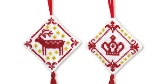 Christmas Cross Stitch Tree Decorations (CS-9031)