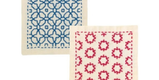 Sashiko Coaster Kit - Morning Glory & Star Candy (SK-297) X3