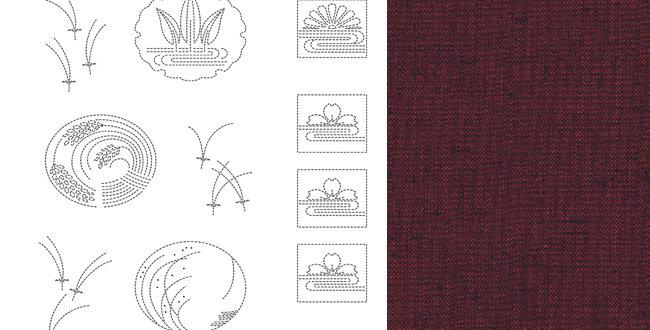 BeBe Bold Sashiko Panel 3 Red (9 panel bolt)
