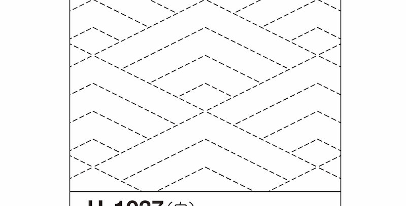 H-1037/H-2037 - Sashiko Sampler - Diamond Ocean Waves