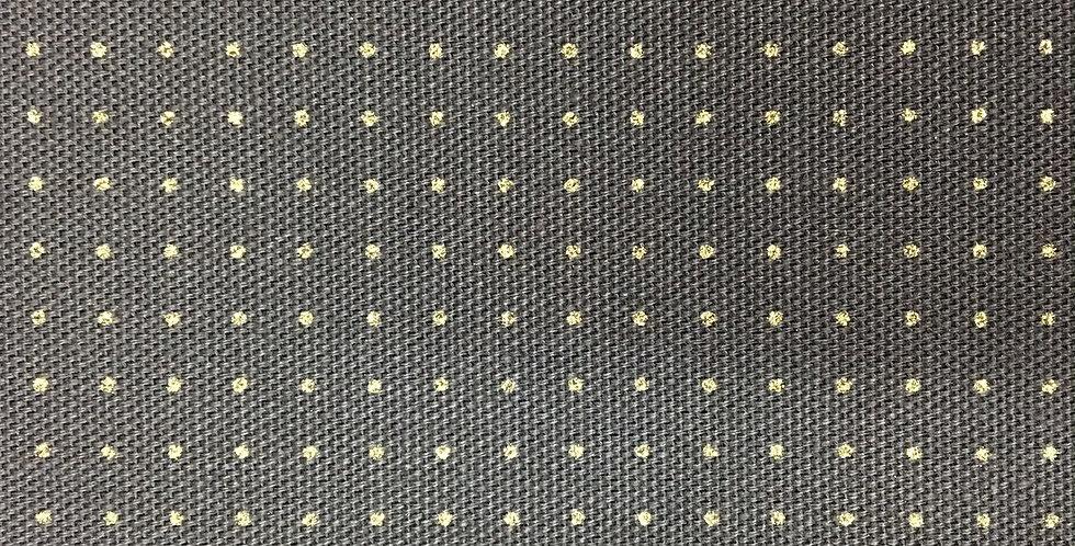Stencilled Dotty Sashiko Fabric Indigo Black 5mt
