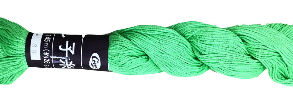 Coron Sashiko Thread - Light Green (per skein)
