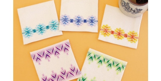 Swedish Embroidery Kit 15 Coasters (SW-15)