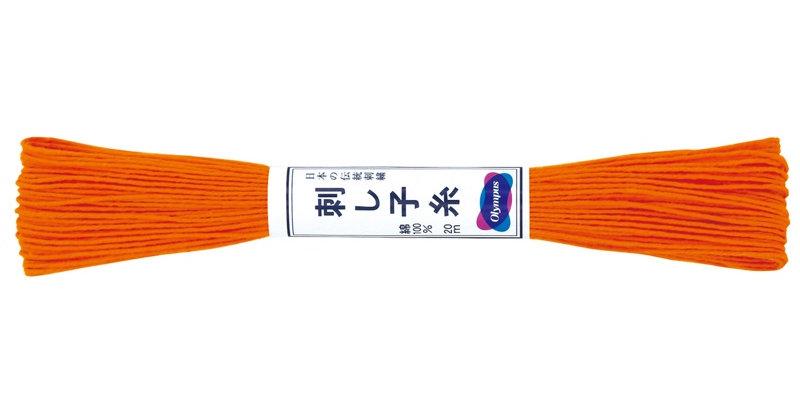 Olympus Sashiko Thread 20m ST-22 Bright Orange (6 skeins)