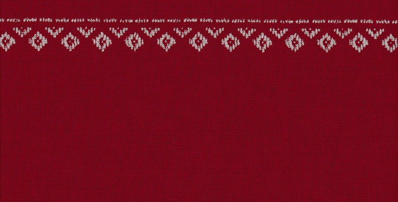 Takumi Kogin Patterns - Red (5 metres)