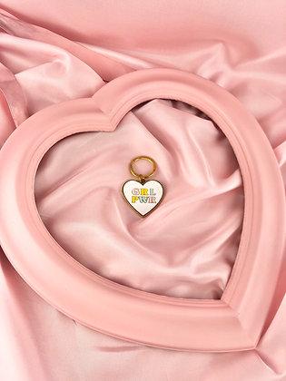 GRL PWR HEART - PORTA-CHAVES