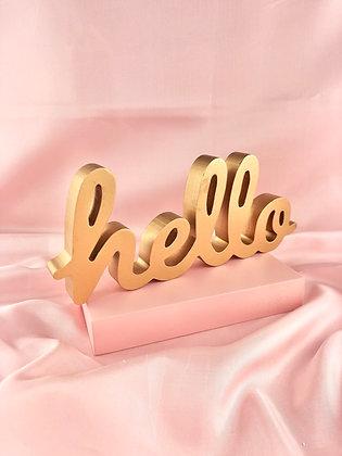 HELLO (dourado)