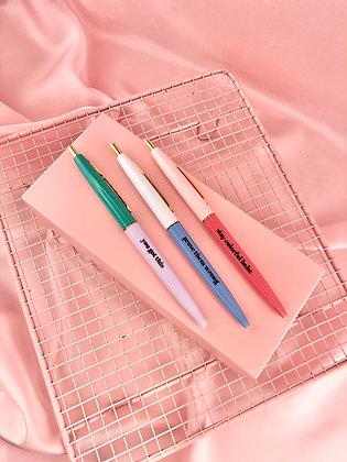 SET 3 CANETAS - colourful