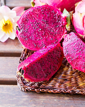 bright juicy tropical red dragon fruit.