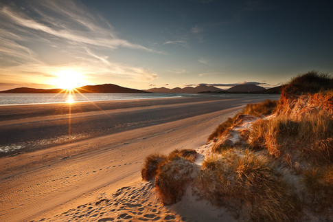 Landscape Photography of a beach on the Isle of Harris in Scotland