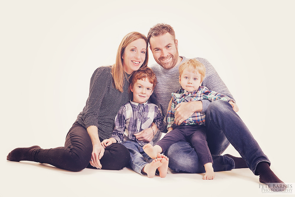 Natural family photography at our studio in Wakefield