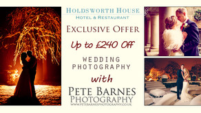 Wedding photography offer at Holdsworth House