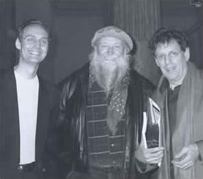 With Terry Riley and Philip Glass in Rome, 1999