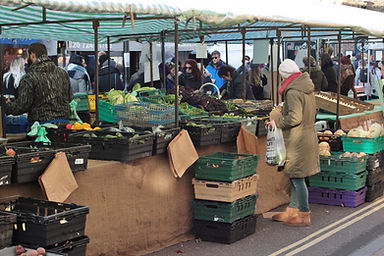 Broadway Market in Hackney, close to the home of Aidan Brooks of Eleven98