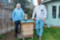 Amanda Mott, who keep bees in her Londn Fieds garden