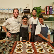 Aidan with guest chefs