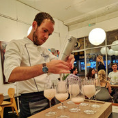 Serving cocktails
