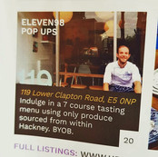 Promoting a pop-up supper