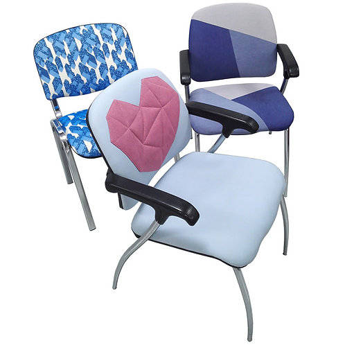 Set of 3 Funky Designer Chairs