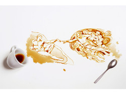 Guilia Bernardelli spilled coffee