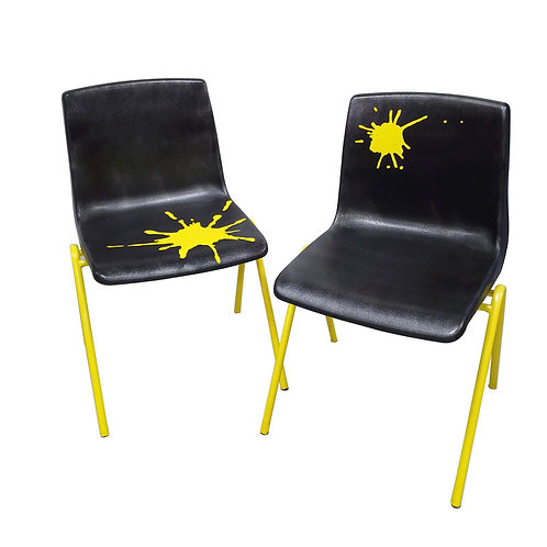 Set of Funky Yellow Splash Chairs