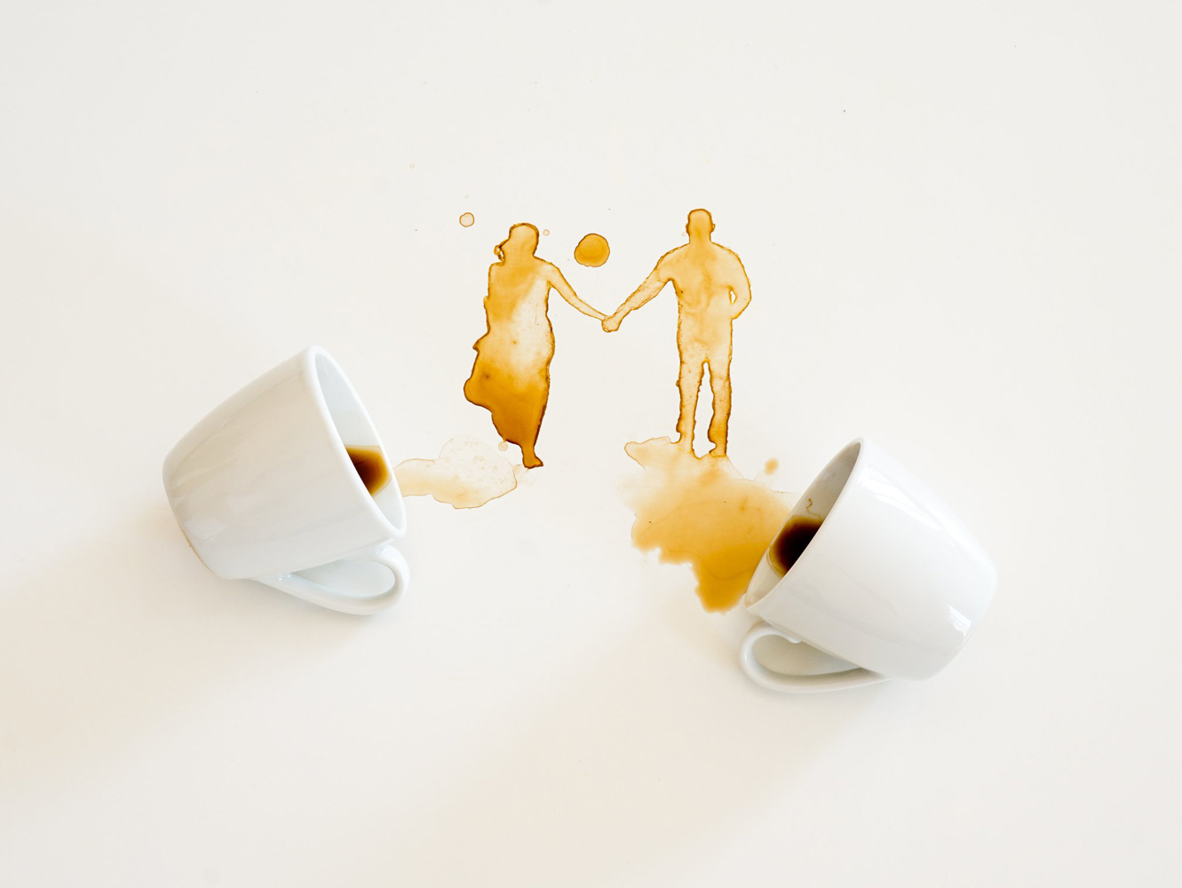 Guilia Bernardelli spilled coffee