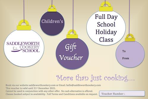 Children's School Holiday Class Voucher