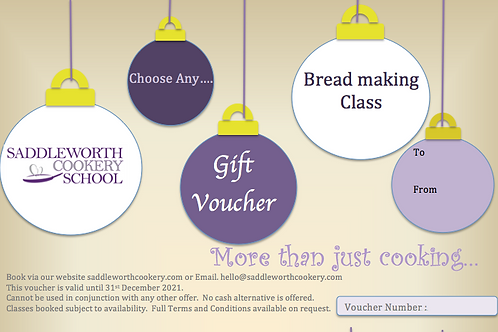 Speciality Breadmaking Class Voucher