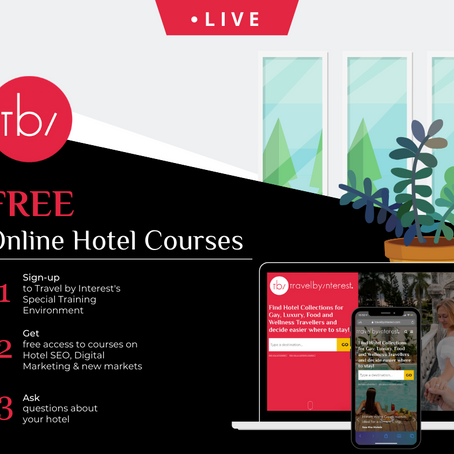 Free Hotel Courses from Travel by Interest regarding Hotel SEO, Digital Marketing  and Niche Markets