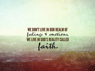 Feelings vs Faith!  Help for Health and  Any Area in Life!  No more swinging from the chandeliers :)