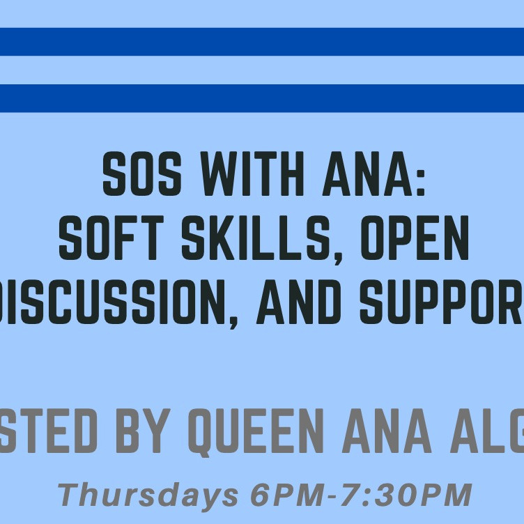 01/14-12/16: S.O.S. with Ana: Twice a month on Thursdays