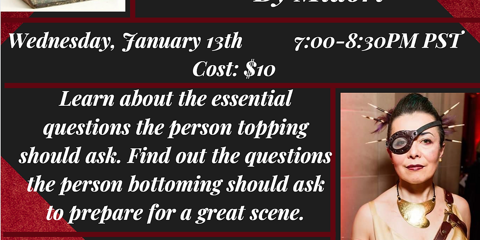 """Wed Jan 13th """"Amazing Scenes: It's all in the setup"""" By Midori 7-8:30PM PST $10"""