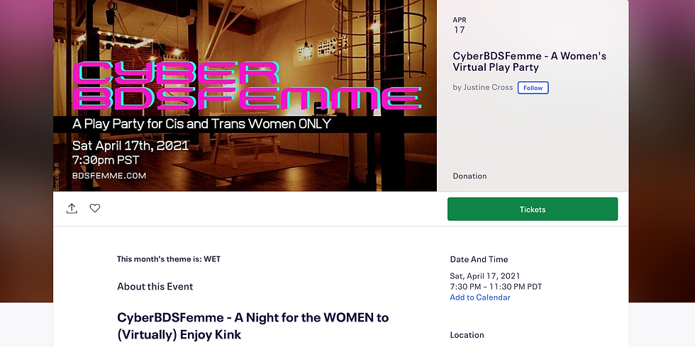 Cyber BDSFemme: Play Party for Cis and Trans Women Only