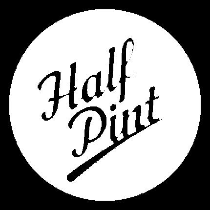 Half Pint Logo - Transparent (White)