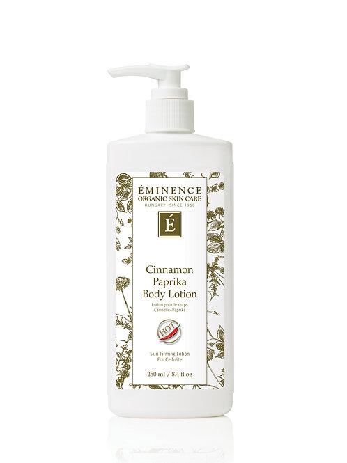CINNAMON PAPRIKA BODY LOTION: Stimulating body lotion