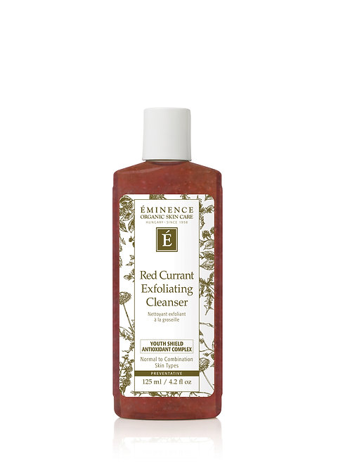 RED CURRENT EXFOLIATING CLEANSER: Age preventative gel facial wash